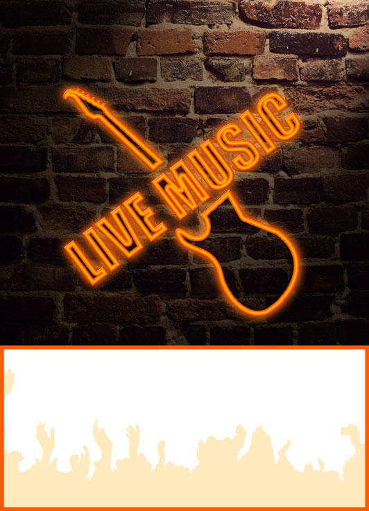 Generic live music poster for Queanbeyan Golf Club