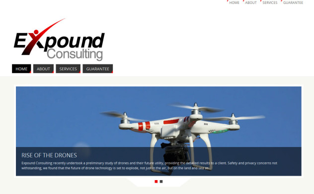 Expound Consulting homepage